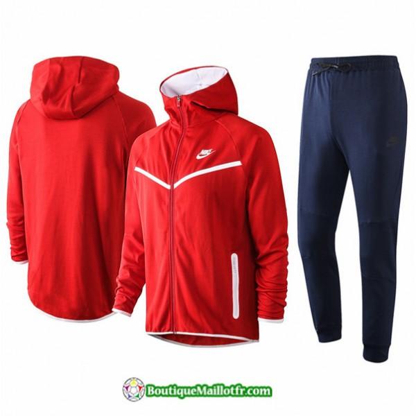 Veste Survetement Nike 2020 2021 à Capuche Rouge