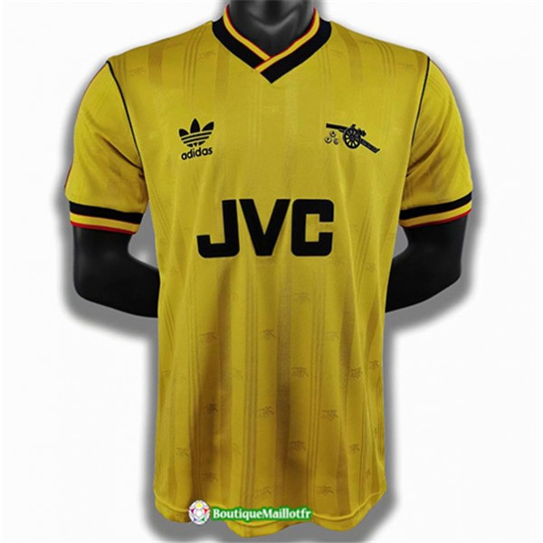 Maillot Arsenal Retro 1986 88 Jaune