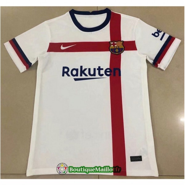 Maillot Barcelone 2020 Blanc/rouge Classic
