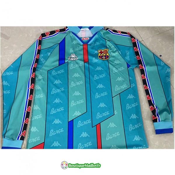 Maillot Barcelone Retro 1996 97 Exterieur Manche L...