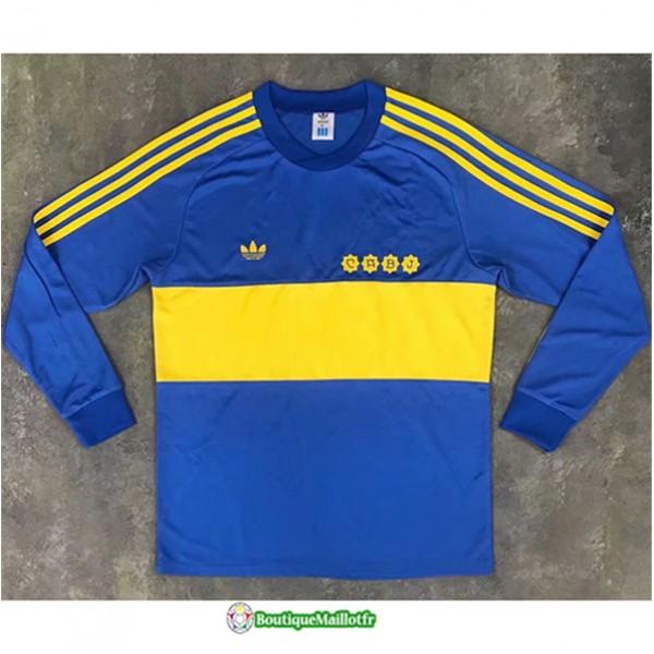 Maillot Boca Juniors Retro 1981 Domicile Manche Lo...