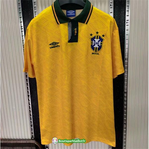 Maillot Brésil Retro 1991 93 Domicile