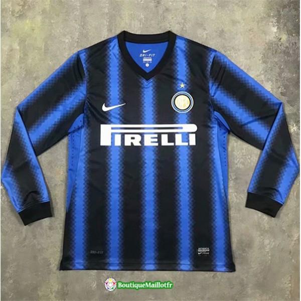 Maillot Inter Milan Retro 2010 11 Domicile Manche ...