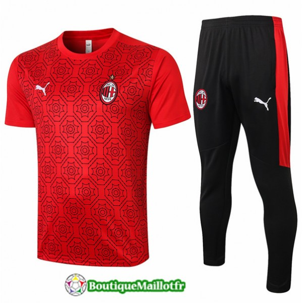 Maillot Kit Entraînement Ac Milan 2020 Training R...