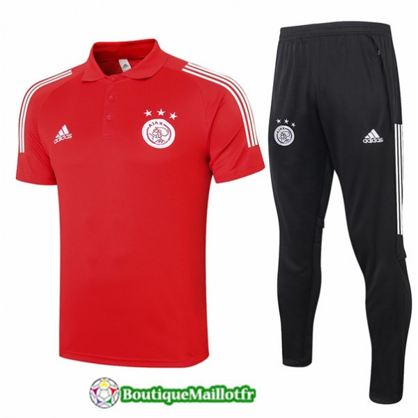 Maillot Kit Entraînement Afc Ajax Polo 2020 Train...