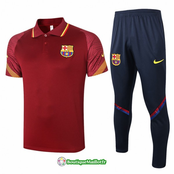 Maillot Kit Entraînement Barcelone Polo 2020 Trai...