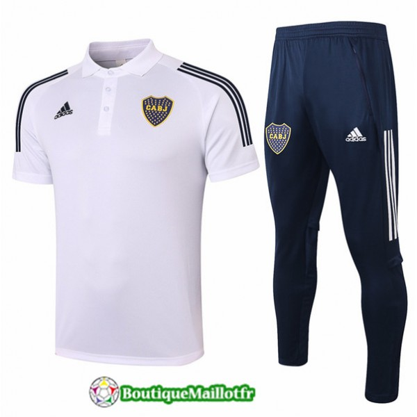 Maillot Kit Entraînement Boca Juniors Polo 2020 T...