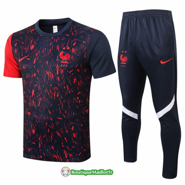 Maillot Kit Entraînement France 2020 Training Noi...