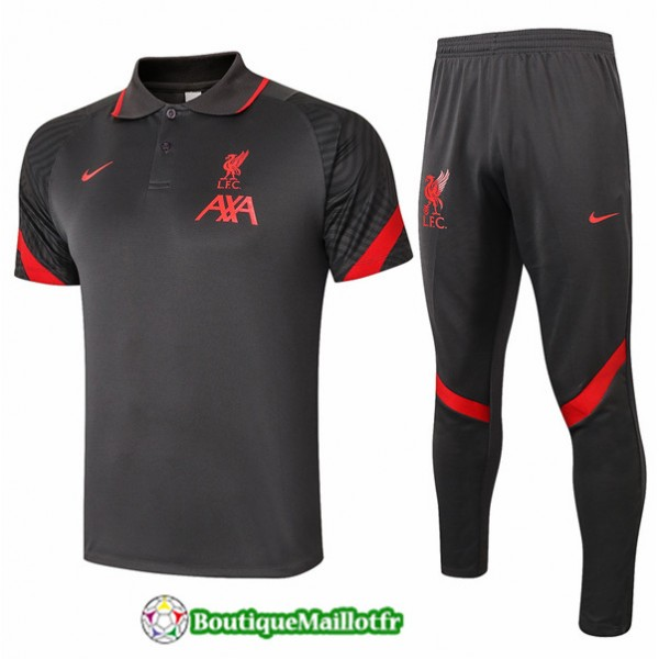 Maillot Kit Entraînement Liverpool Polo 2020 Trai...