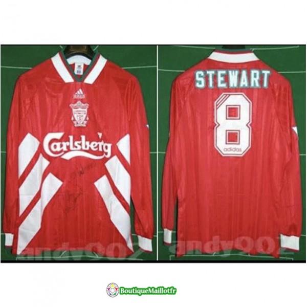 Maillot Liverpool Retro 1993 95 Domicile Manche Lo...