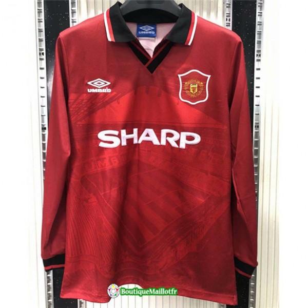 Maillot Manchester United Retro 1994 96 Domicile M...