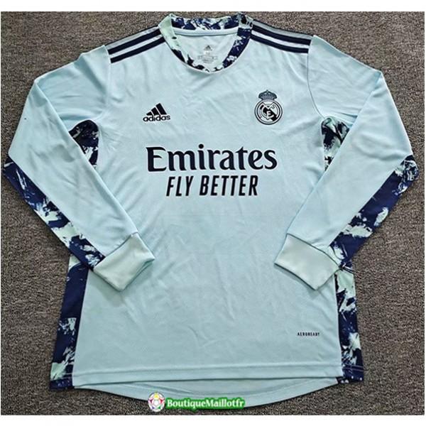 Maillot Real Madrid Gardien De But 2020 Manche Lon...
