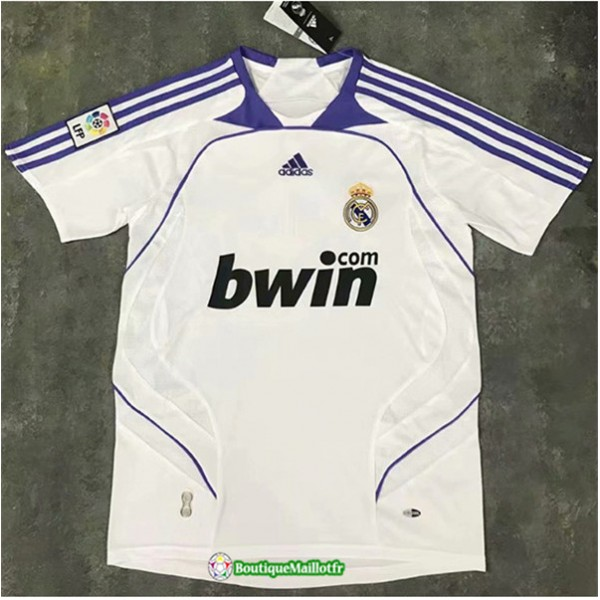 Maillot Real Madrid Retro 2007 08 Domicile