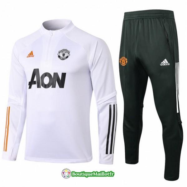 Survetement Manchester United 2020 Blanc
