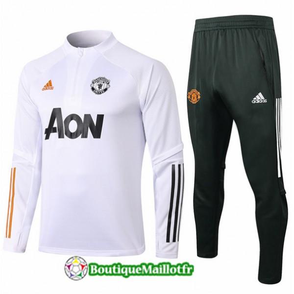 Survetement Manchester United Enfant 2020 Blanc