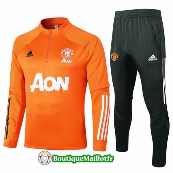 Survetement Manchester United Enfant 2020 Orange