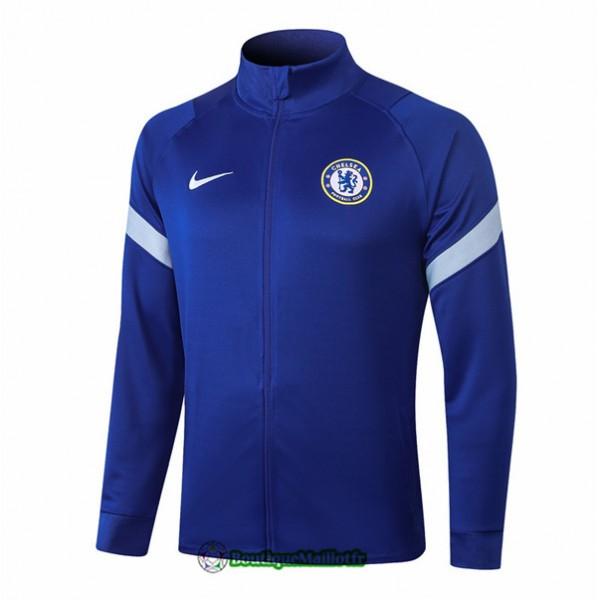 Veste Chelsea 2020 Bleu Col Haut