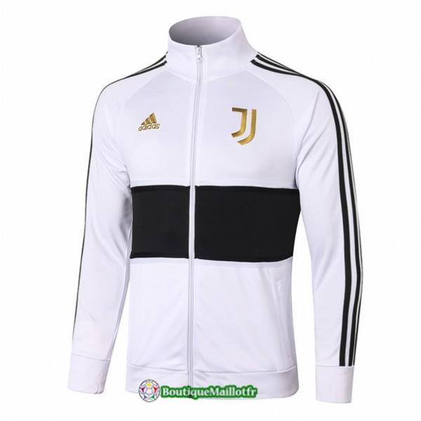 Veste Juventus 2020 Blanc/noir Or Badge Col Haut