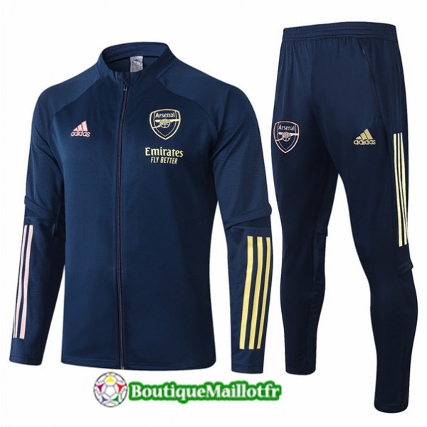 Veste Survetement Arsenal Enfant 2020 Bleu Marine
