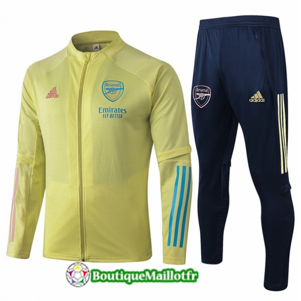 Veste Survetement Arsenal Enfant 2020 Jaune