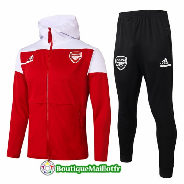 Veste Survetement Arsenal Enfant 2020 à Capuche R...