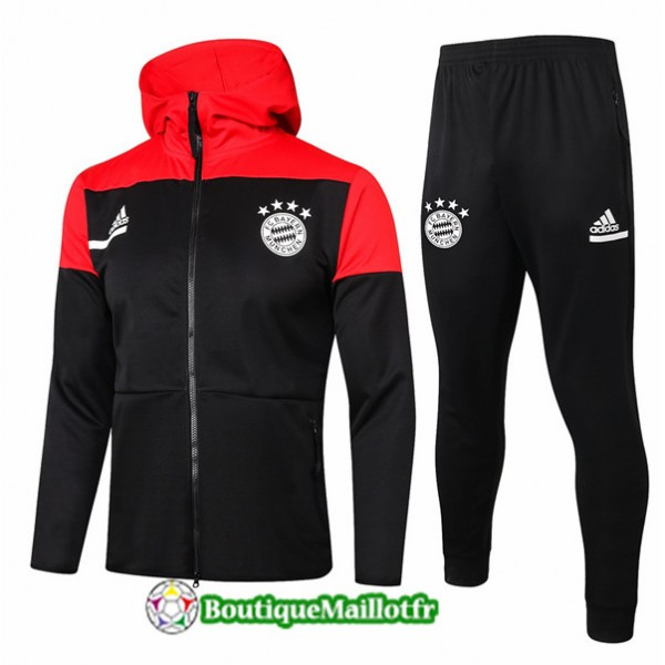 Veste Survetement Bayern Munich 2020 A Capuche Noi...