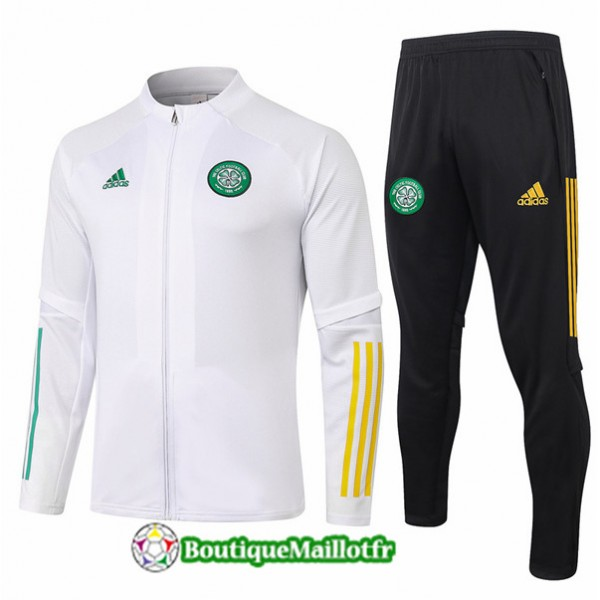 Veste Survetement Celtic 2020 Blanc