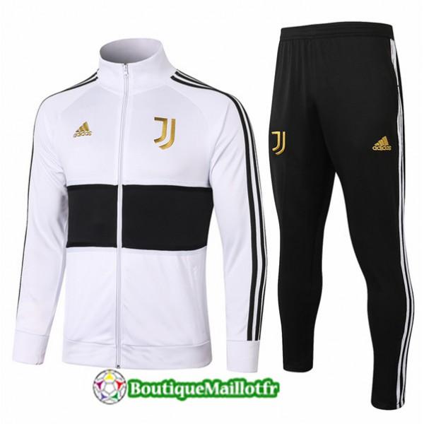 Veste Survetement Juventus 2020 Blanc/noir Or Badg...