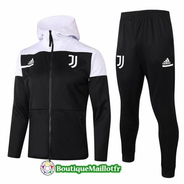 Veste Survetement Juventus 2020 à Capuche Noir/bl...