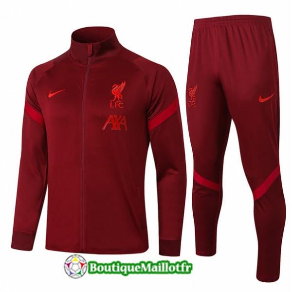 Veste Survetement Liverpool 2020 Rouge