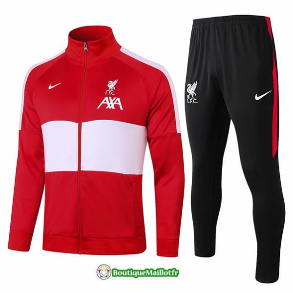 Veste Survetement Liverpool 2020 Rouge/blanc