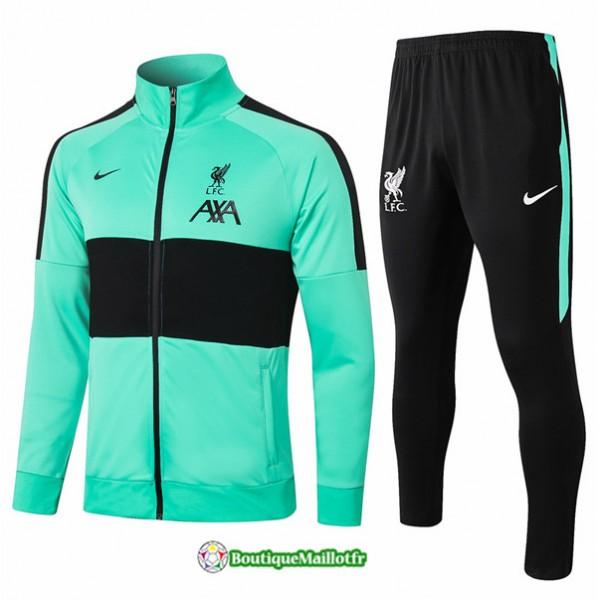 Veste Survetement Liverpool 2020 Vert/noir