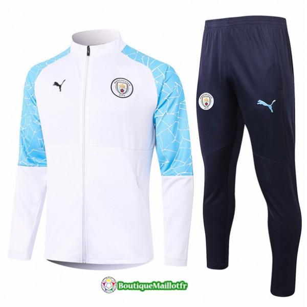 Veste Survetement Manchester City 2020 Blanc