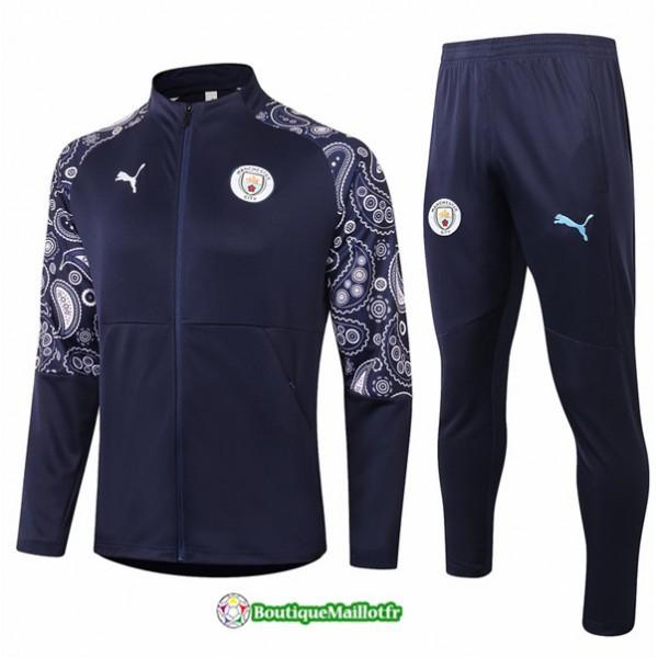 Veste Survetement Manchester City 2020 Bleu Marine