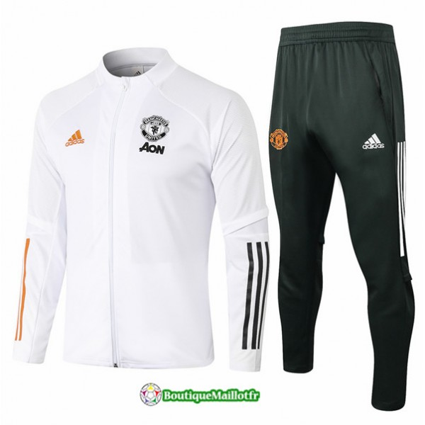 Veste Survetement Manchester United 2020 Blanc
