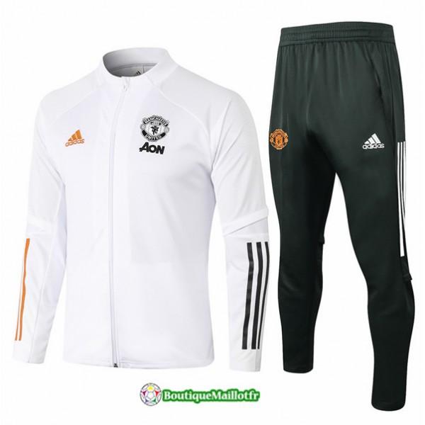 Veste Survetement Manchester United 2020 Blanc
