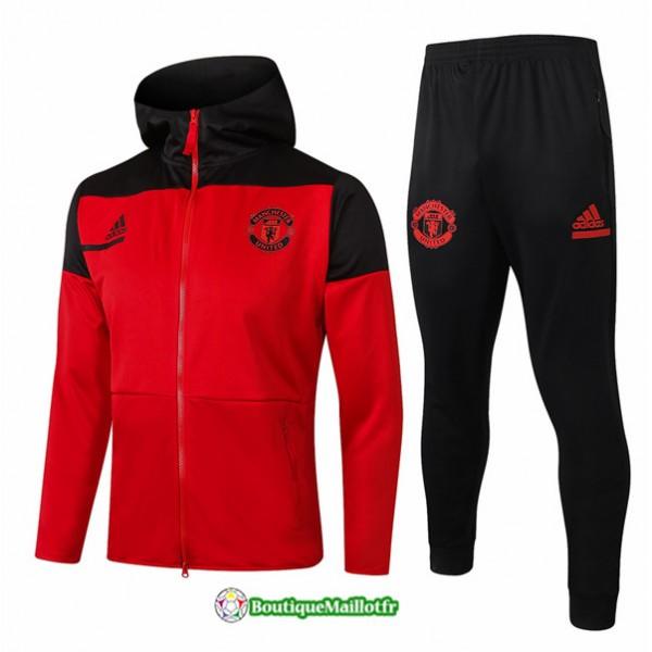 Veste Survetement Manchester United 2020 à Capuch...