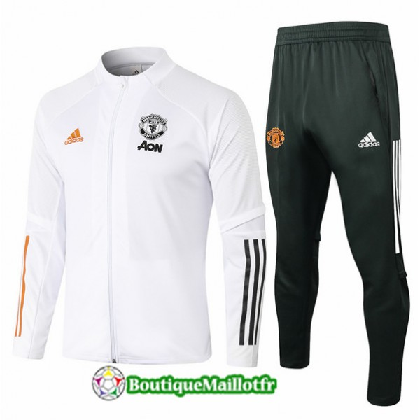 Veste Survetement Manchester United Enfant 2020 Bl...