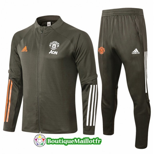 Veste Survetement Manchester United Enfant 2020 Ar...