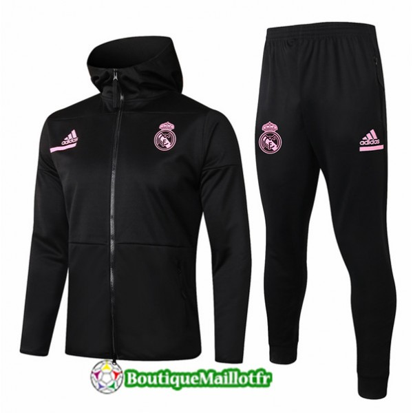 Veste Survetement Real Madrid Enfant 2020 à Capuc...