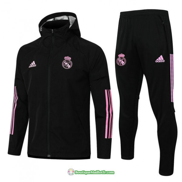 Coupe Vent Real Madrid 2020 2021 Noir