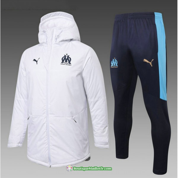 Doudoune Marseille 2020 2021 Blanc