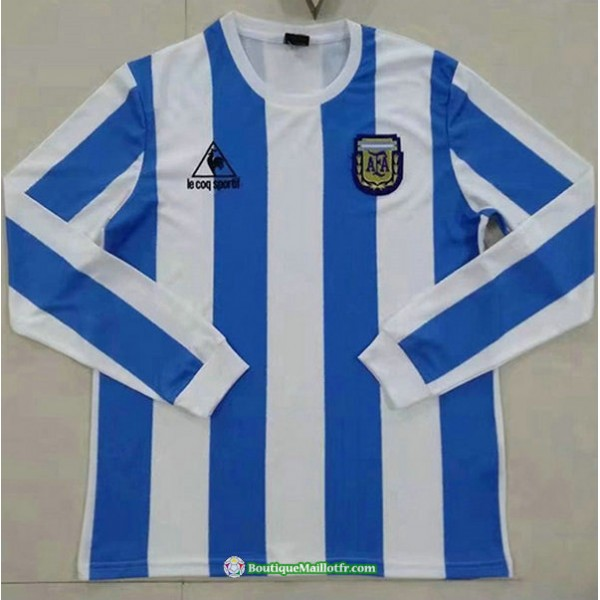 Maillot Argentine Retro 1986 Domicilemanche Longue