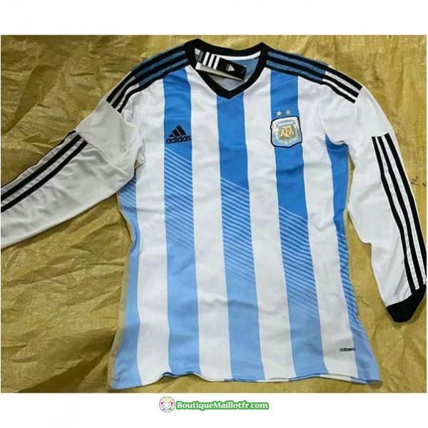 Maillot Argentine Retro 2014 Domicile Manche Longu...