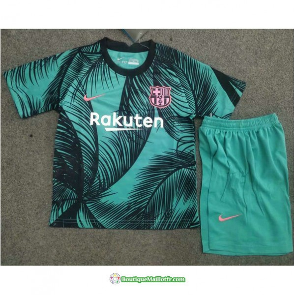 Maillot Barcelone Enfant 2020 2021 Training Vert