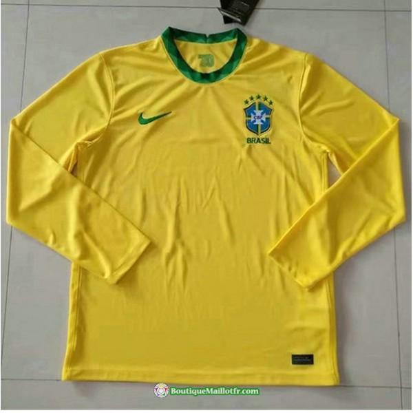 Maillot Brésil 2020 2021 Domicile Manche Longue