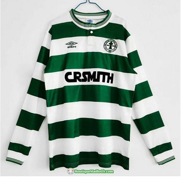 Maillot Celtic Retro 1987 88 Domicile Manche Longu...