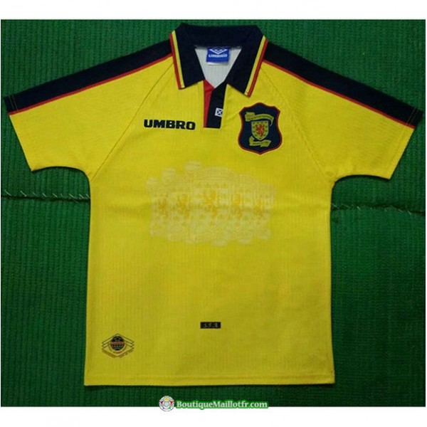 Maillot Écosse Retro 1996 98 Jaune