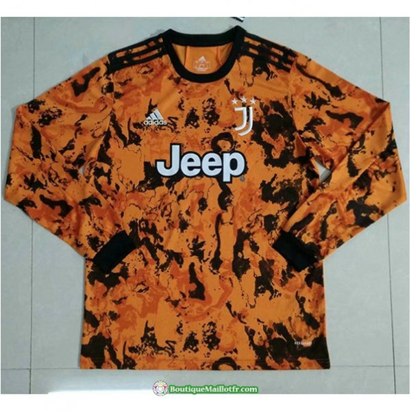 Maillot Juventus 2020 2021 Orange Manche Longue