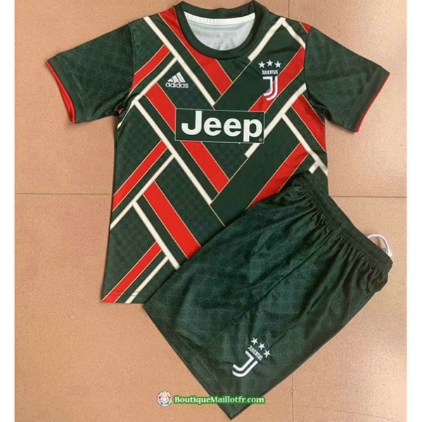 Maillot Juventus Enfant 2021 2022 Vert/rouge